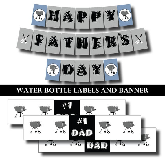 Fathers Day Party Pack - Printable Invitation and Party Supplies