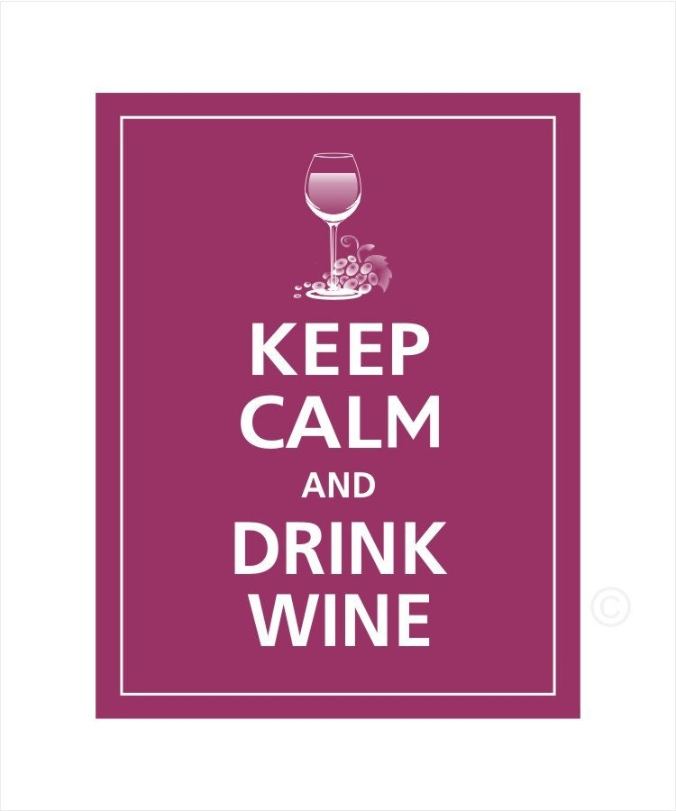 Items Similar To Keep Calm And Drink Wine Magnet