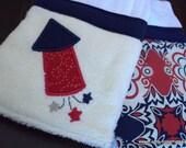 Baby Burp, Bib & Clip Gift Set: Celebrate the USA