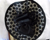 Black White Guipure Lace Hat for Derby Day