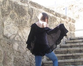 Black wraps shawl Knitted shawl Shawl wrap Black shawl  Large shawl Women's Clothing Accessories Crochet Shawl