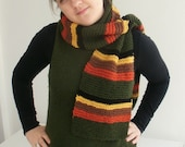 Striped knit scarf - FREE SHIPPING