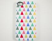 iPhone 4 Case, iPhone 4s Case, iPhone Case, Hard iPhone 4 Case - Colorful Triangle