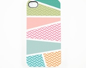 iphone 4 Case, iphone case, iphone 4s Case, iphone 4 Cover, Hard iphone 4 Case -- Pastel geometric Art