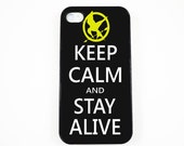 iPhone 4 Case, iPhone 4s Case -- The Hunger Games - Keep Calm And Stay Alive