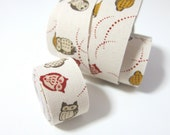 Self adhesive fabric masking tape / fabric sticker  - Japanese cute owls