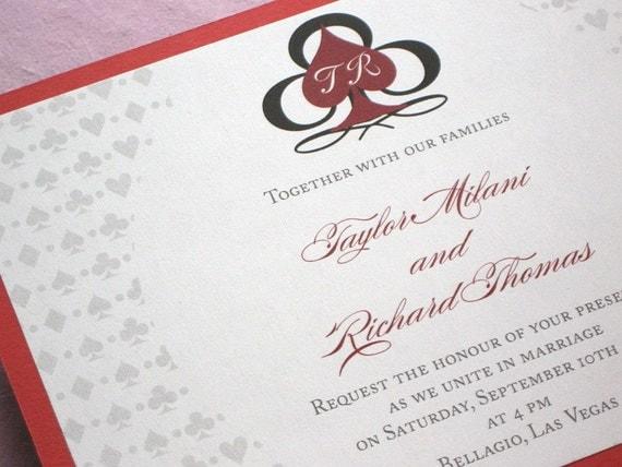 Vegas Wedding Invitation: Items Similar To Las Vegas Wedding Invitation