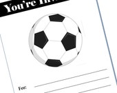 soccer  party invitation - blank -  Printable