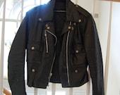 Womens HARLEY DAVIDSON Vintage Black Leather Motorcycle Jacket  XS or Sm