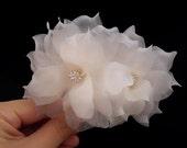Swarovski Bridal Headpiece, Wedding Headpiece, Bridal Hair Piece, Wedding Hair Piece, Wedding Hair Flower, Bridal Hair Flower, Pure Silk