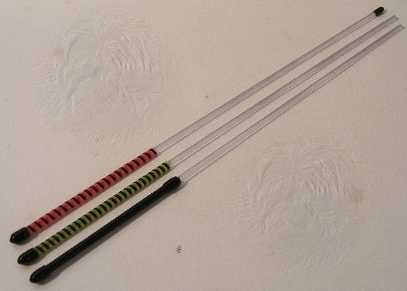 "Three 16 inch 3/16"" Acrylic Stick Mini Cane"