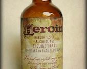 Heroin - Glass Amber Bottle