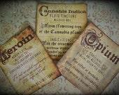 Illicit Drugs - sticker set