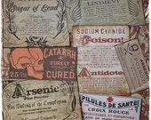 Antiquated Poisons - Sticker Label Set
