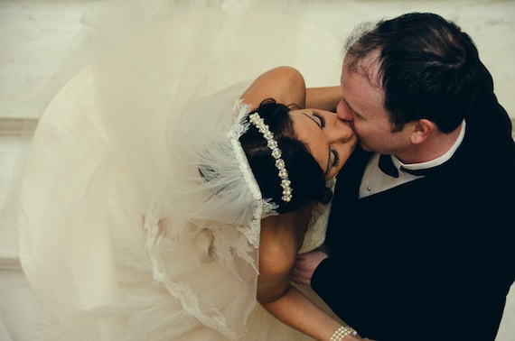 Crystal and Pearl Tiara Headband, Swarovski,  Wedding, Headpiece, Hair Accessories