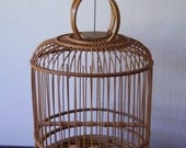 Vintage Bamboo Birdcage