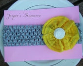 Grey Skies and Sunshine Headband