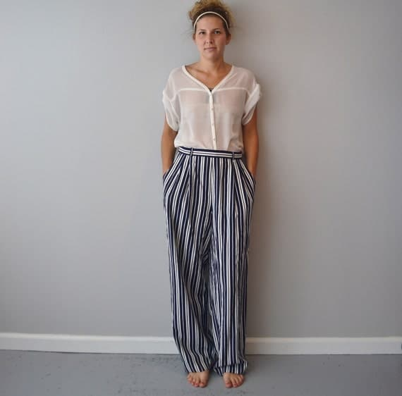 Vintage nautical pants high waisted size M