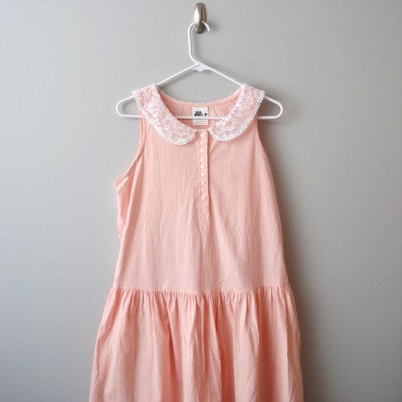Vintage light pastel pink dress size 9