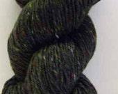 Aran Tweed Yarn (Hunters Green) Irish Donegal Kilcarra Wool 7oz/200g