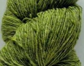 Aran Tweed Yarn (Light Green) Irish Donegal Kilcarra Wool 7oz/200g