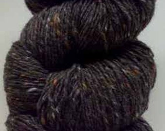 Aran Tweed Yarn (Brown Grey) Irish Donegal Kilcarra Wool 7oz/200g