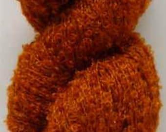 Luxury Mohair Bouclé (Burnt Orange) Knitting Yarn 7oz/200g