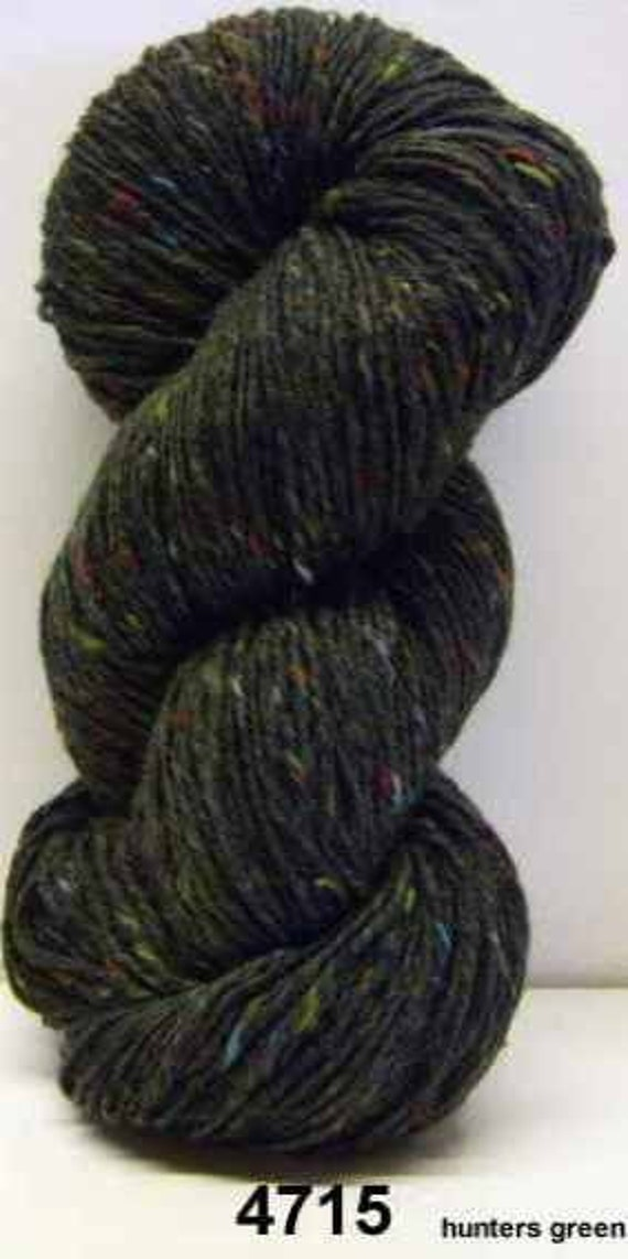 Aran Tweed Yarn (Hunters Green) Irish Donegal Kilcarra Wool 7oz/200g