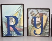 Personalized Blocks made with any name you choose - Addy and Ryan - Where the wild things are