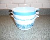 Three Vintage Pyrex Casserole Dishes