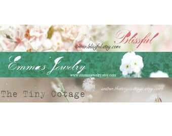 Bliss, Jade Garden, Neutral - You Choose Etsy Shop Banner