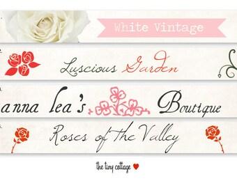 Choose Your Design - Etsy Shop Banner Set - Roses