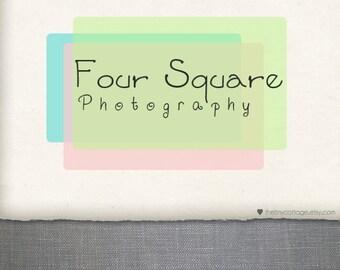Premade Logo Design and Watermark - Squares - (No.204)