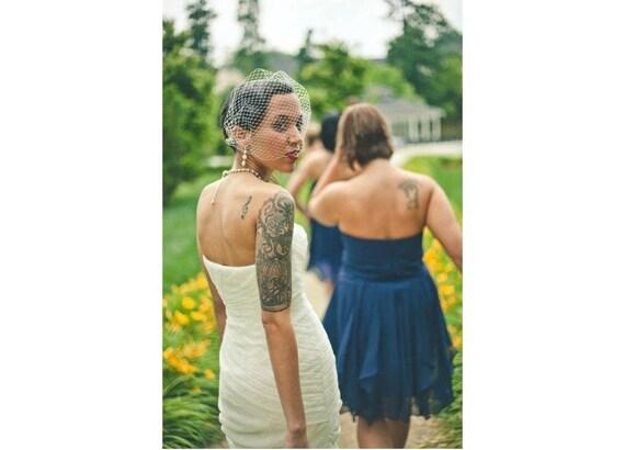 Birdcage Veil - Bridal Veil - Blusher Veil - Wedding Veil - Bridal Bandeau Veil - Bridal Net Veil - White Ivory or Black Veil