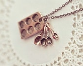 the little baker necklace in antiqued copper. LAST ONE.