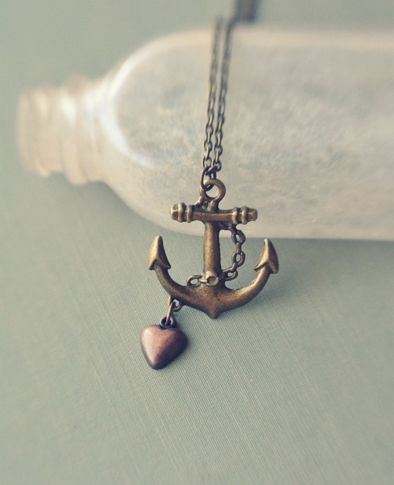 LAST ONE - my love is the sea necklace.