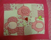 Daisy Kingdom Pink Elephant quilt for Baby or toddler.
