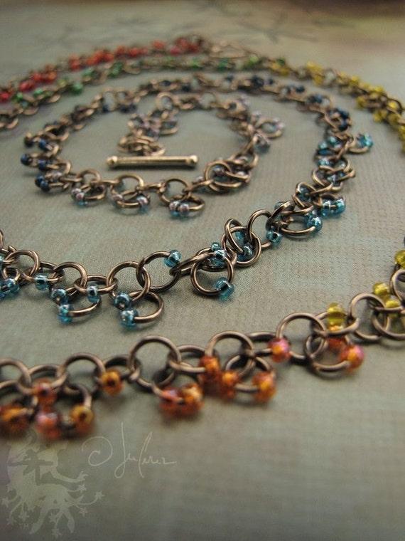 Chakra GLBT LGBT Autism Aspie Necklace Bracelet - Red Orange Yellow Green Blue Indigo Violet Meditation - Take Heart