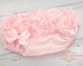 Baby Ruffle Bloomers..Ruffle Bloomers..Ruffle Diaper Cover..Baby Bloomers...Pink Ruffle Baby Bloomers..Chiffon Ruffle Bloomers