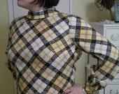 Yellow Plaid 60s dress