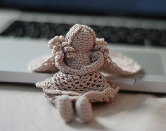 Handmade crochet angel