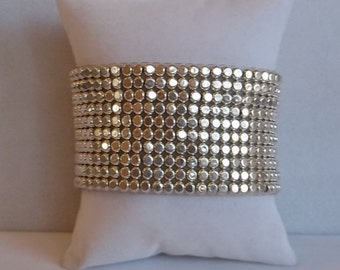 Silver Cuff  Infinity Stretch Bracelet