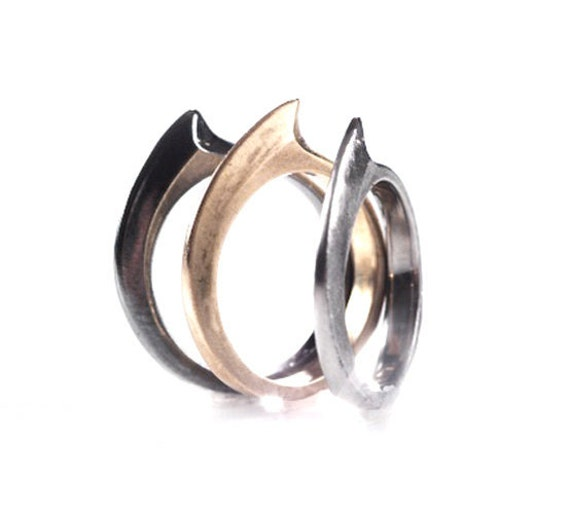 Stackable Shark Fin Rings