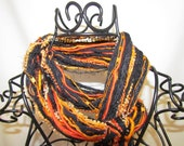 Fringe Scarf- Orange & Black- HD, Oklahoma State, Princeton