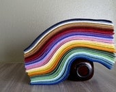 Wool Felt, 20 9 x 12 inch Heirloom Quality Sheets, pick your colors