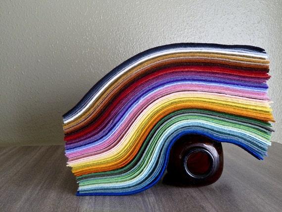 Felt, 15  9 x12 sheets, wool blend by Feltcraftic