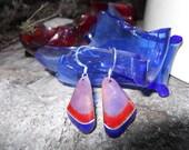 replicate damaged cloisonne enamel earrings