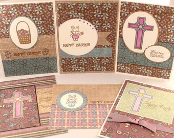 Easter Cards, Happy Easter, Handmade Cards,  Card Set of 6, Clearance