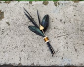 Black Crow FEATHER Boutonniere by The Boutonniery