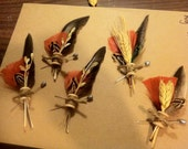 Custom Reserved Listing for Manusayu - 5 custom Rooster Boutonnieres